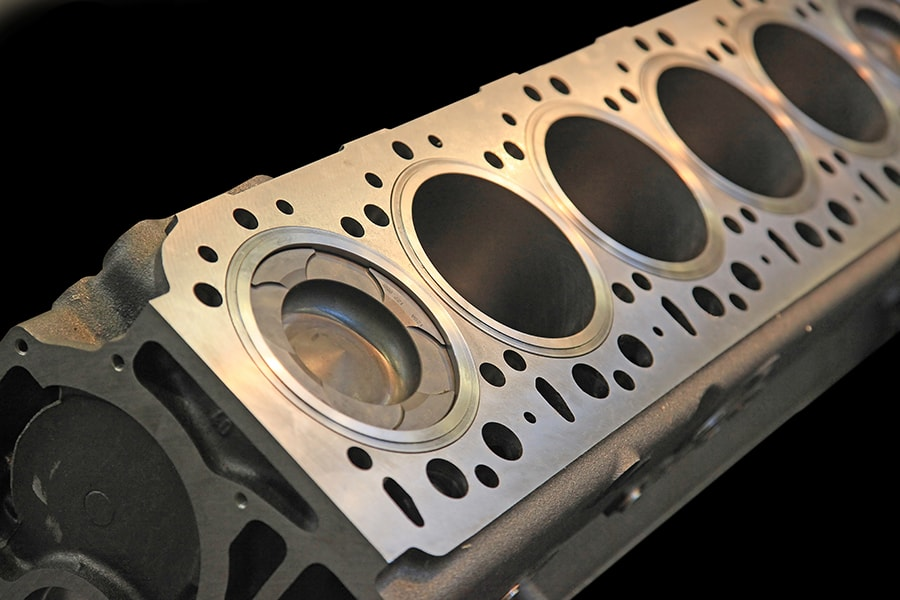 Aluminium cilinderkop vlakken